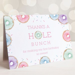 Printable Donuts Thank You Card