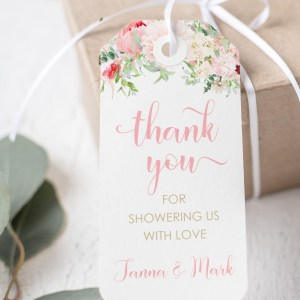 Printable Thank You Tags- Pink Floral