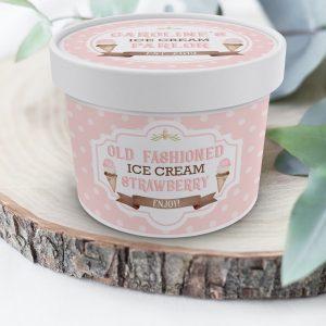 Printable Ice Cream Tub Labels- Polka Dots