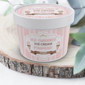 Printable Ice Cream Tub Labels- Stripes
