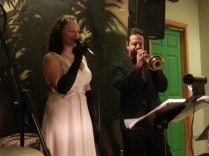"Anna Paolucci & Tim Perdue performing a beautiful vocal & trumpet duo rendition of ""Summertime"""