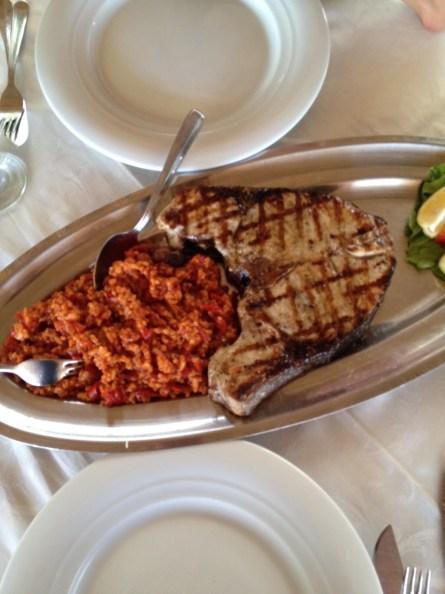 Gegrillter Bernsteinfisch