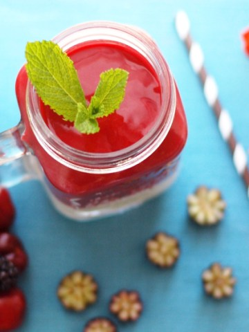 Cherry Smoothie with coconut