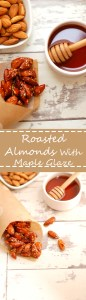 Delicious Roasted Almonds with Sweet Maple Glaze