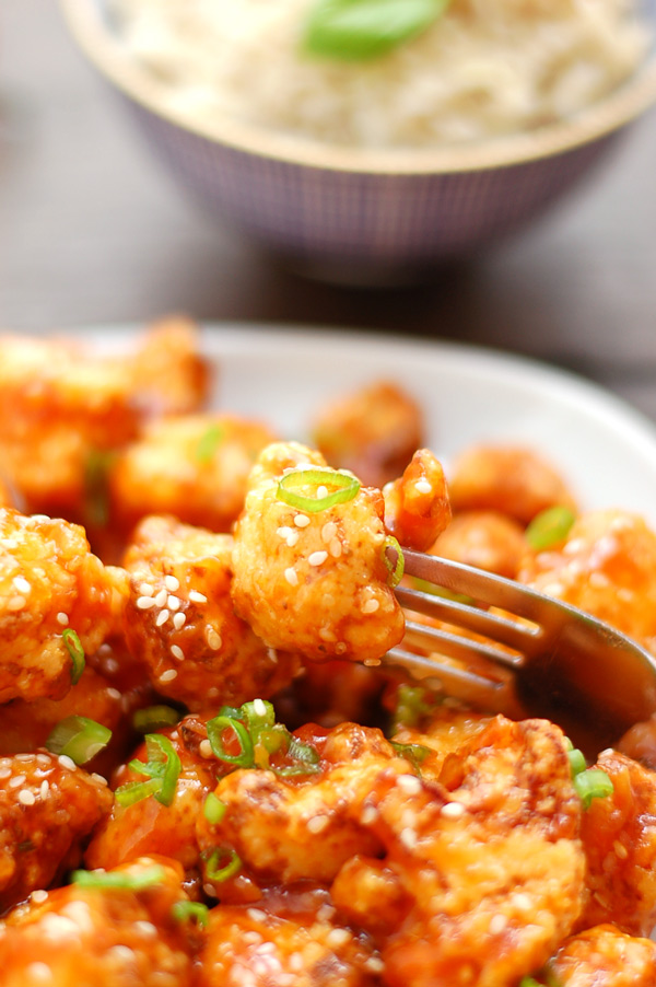 Cauliflower in Sweet and Spicy Sauce
