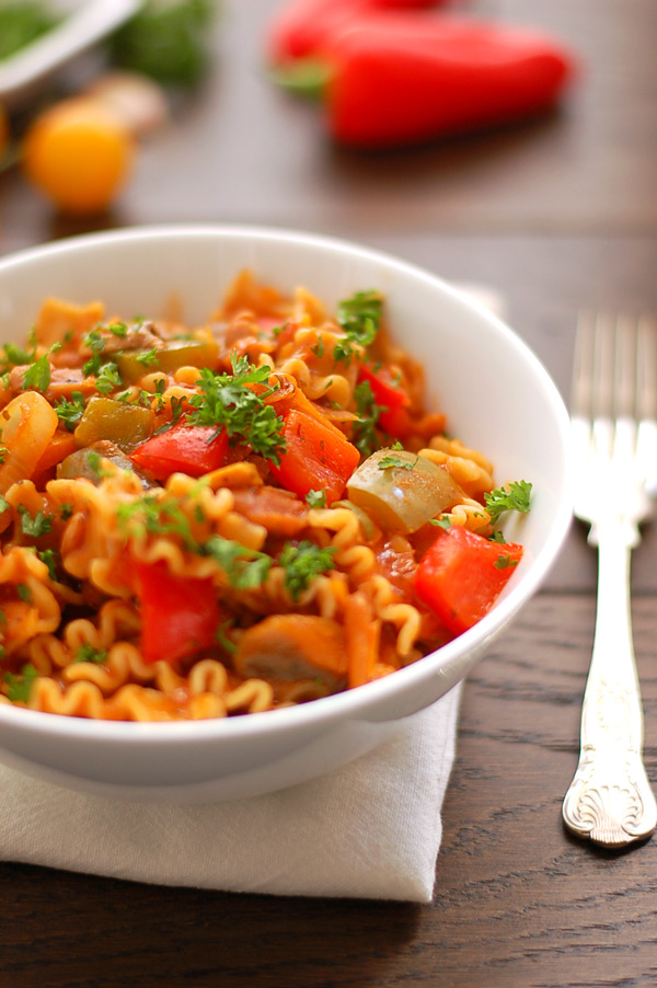 Spicy Mexican Pasta Bowl