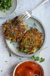 Easy Recipe for Vegetable Fritters with smoky tomato salsa dip   via @annabanana.co