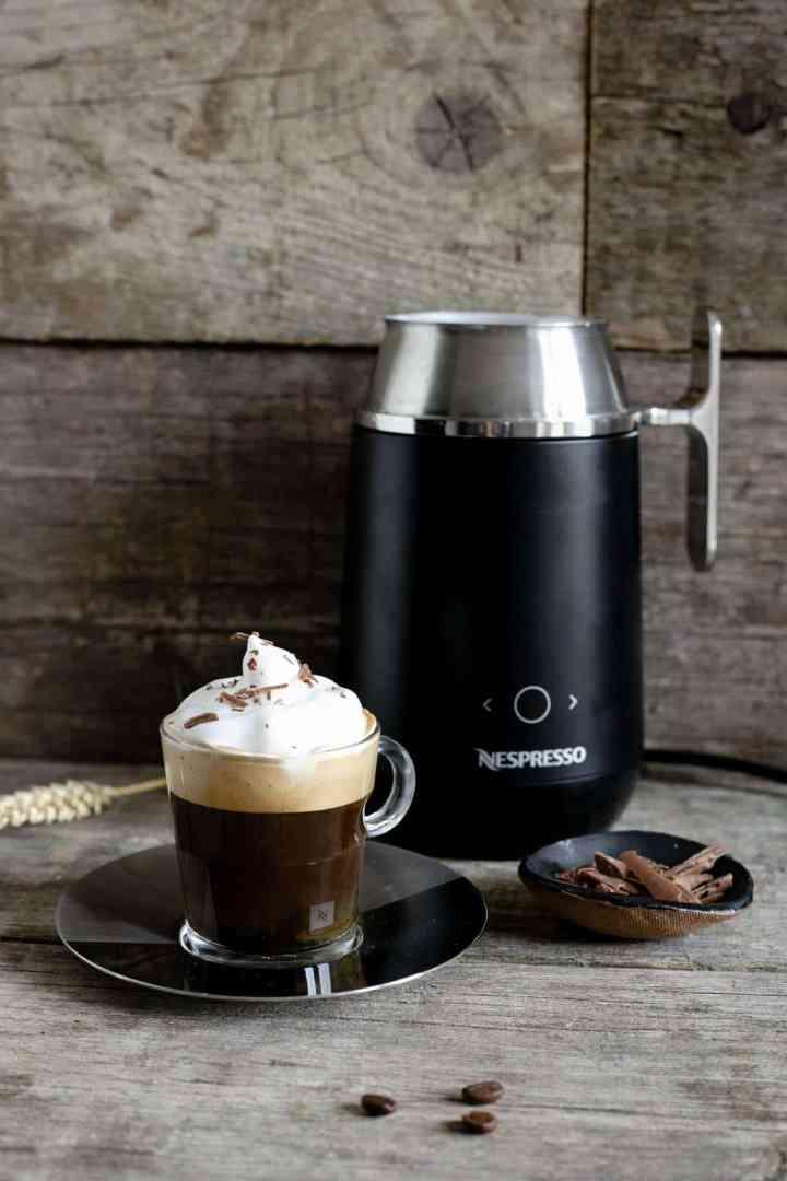 Cafe Viennois made with Nespresso Barista coffee and milk recipe maker #coffeelover #coffeerecipe | via @annabanana.co