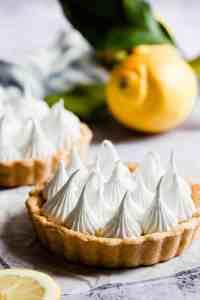 side close up of a lemon meringue pie