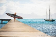 Annabel Anderson paddleboarding