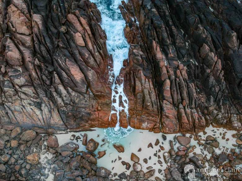 Injidup Natural Spa Rock Pool Drone Photo