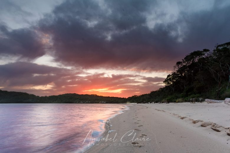 landscape image to show sunset at Coalmine Beach in Walpole