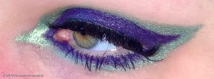Purple and Green Eyeliner Makeup Eye Look