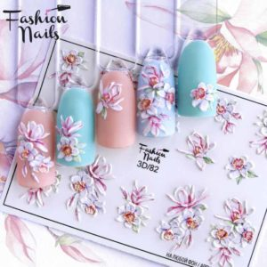 Fashion Nails, Слайдер дизайн 3D-82