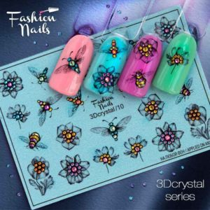 Fashion Nails, Слайдер дизайн 3Dcrystal-10