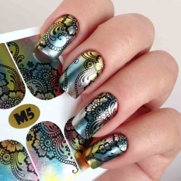 Fashion Nails, Слайдер дизайн Metallic-5