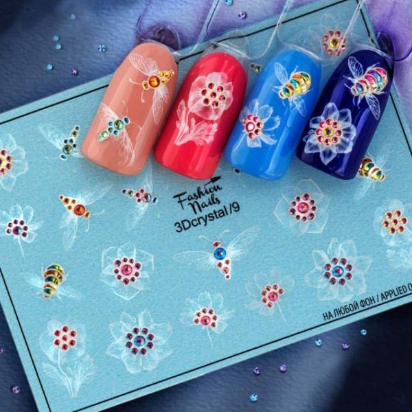 Fashion Nails, Слайдер дизайн 3Dcrystal-09