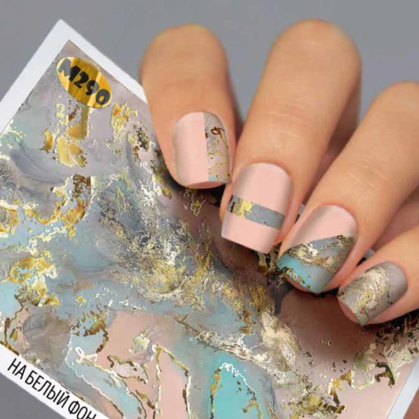 Fashion Nails, Слайдер дизайн Metallic-290