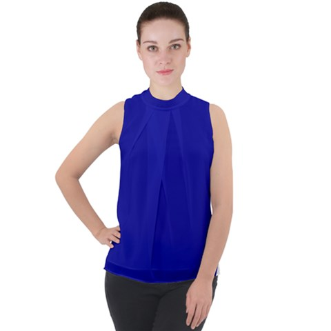 Chiffon top in blue