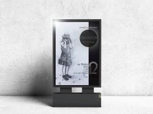 Affiche pour une exposition de peintures d'Annabelle Vauvrecy au Bistrot 12 à Montpellier