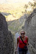Anna on the way up to Diamond Head