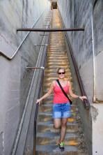 Anna on the hike up Diamond Head