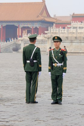 Guards at the Forbidden City