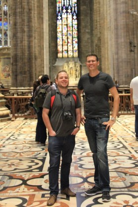 Matt and Ben at the Duomo in Milan