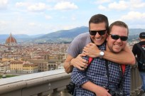Ben and Matt in Florence