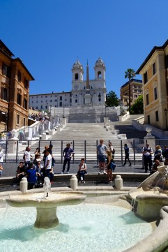 The Spanish Steps in Rome - under construction