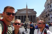 Selfie in front of the Pantheon in Rome