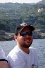 Matt on the boat to Capri