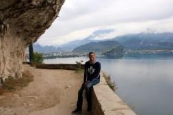 Ben hiking in Riva del Garda