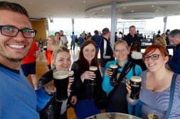 Enjoying our free Guinness with Laura and family after the tour