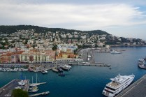 View of the port in Nice from Castle Hill lookout