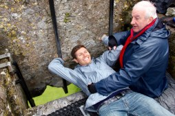 Ben after kissing the Blarney stone