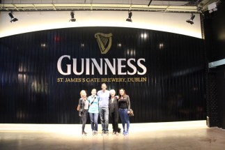 Guinness storehouse - Laura, Anna, Ben, Dee and Ciara