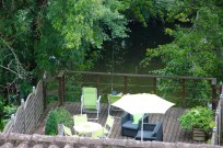 Ben's Dad fishing off the deck
