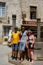 Ben with his parents in Carcassonne