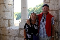 Ben's parents at the top of the bell tower in Brantome
