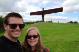 Selfie at the 'Angel of the North' in Newcastle