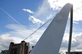 Newcastle view of the Millennium Bridge