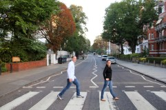 Amy and Gerritt at the Abbey Road crossing