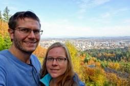 Selfie in Portland, Oregon