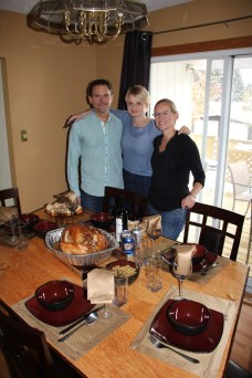 Thanksgiving feast with Tom and Marlena