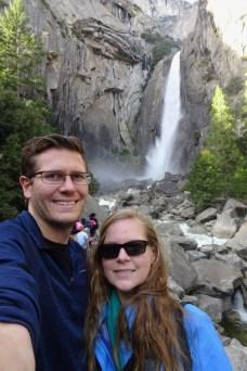 Selfie at Yosemite Falls in Yosemite National Park
