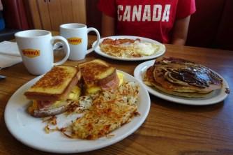 Denny's breakfast in Las Vegas
