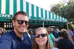 Selfie at Cafe du Monde in New Orleans, Louisiana