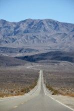 Long, straight roads at Death Valley National Park