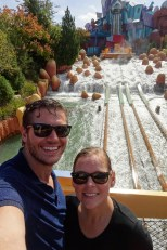 We thought we were soaked after Dudley Do Right's Ripsaw Falls at Universal's Island of Adventure in Orlando, Florida